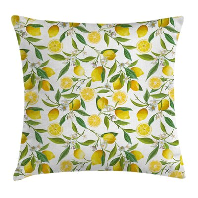 Kitchen Exotic Delicious Garden Pillow Cover Size: 24 x 24