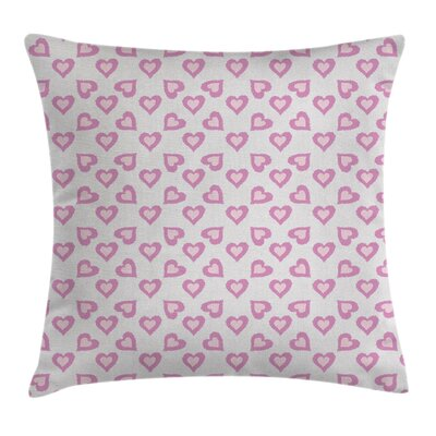 Valentine Love Inspired Hearts Square Pillow Cover Size: 20 x 20