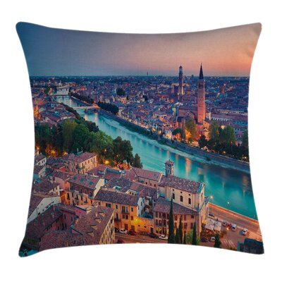 European Verona Italy Hour Pillow Cover Size: 16 x 16