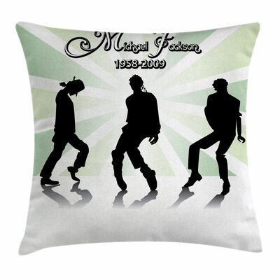 Michael Jackson Artist Memorial Square Pillow Cover Size: 16 x 16