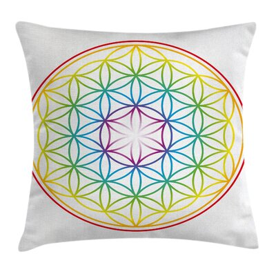 Space Radiant Flower of Life Pillow Cover Size: 18