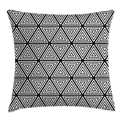Bohemian Triangles Minimalist Pillow Cover Size: 18 x 18