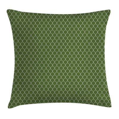 Geometric Wave Like Square Pillow Cover Size: 16 x 16