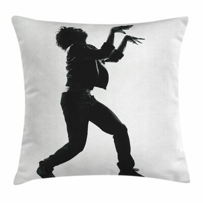 Michael Jackson Zombie Walk Square Pillow Cover Size: 24 x 24