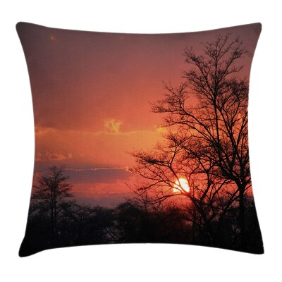 African Sunset at Kwando River Pillow Cover Size: 18 x 18