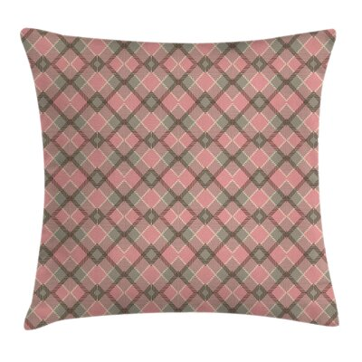 Ethnic Tartan Pattern Scottish Pillow Cover Size: 24 x 24