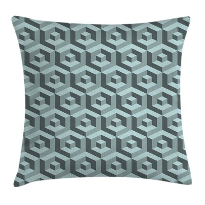 Futuristic Maze Digital Cubical Pillow Cover Size: 24 x 24