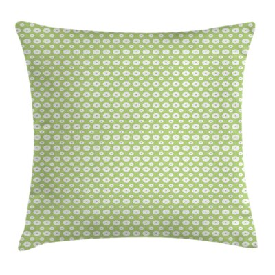 Retro Inner Circles with Dots Square Pillow Cover Size: 16 x 16