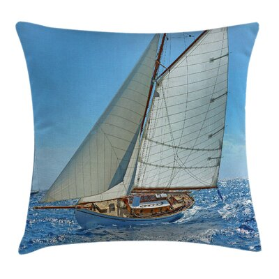 Nautical Sailboat Regatta Race Pillow Cover Size: 24 x 24