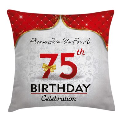 Floral Royal Party Invitation Square Pillow Cover Size: 18 x 18
