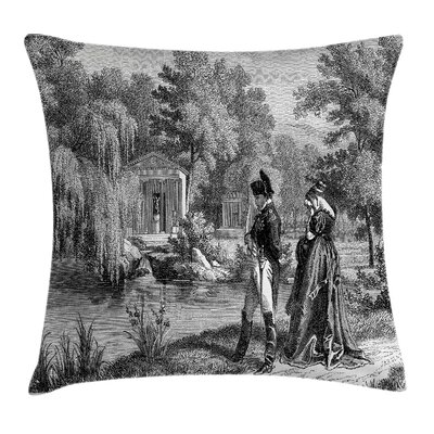 Vintage Napoleon Woman Garden Pillow Cover Size: 24 x 24