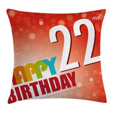 Celebration Art Square Pillow Cover Size: 16 x 16