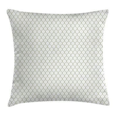 Flake Style Waves Square Pillow Cover Size: 24 x 24