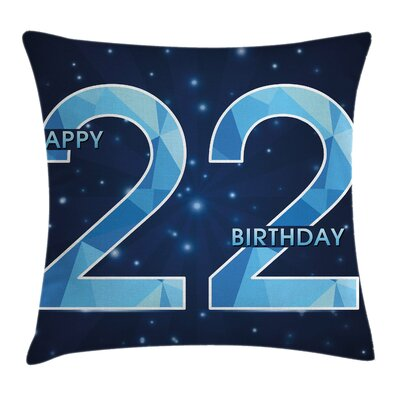 Happy Age Polygon Star Square Pillow Cover Size: 24 x 24
