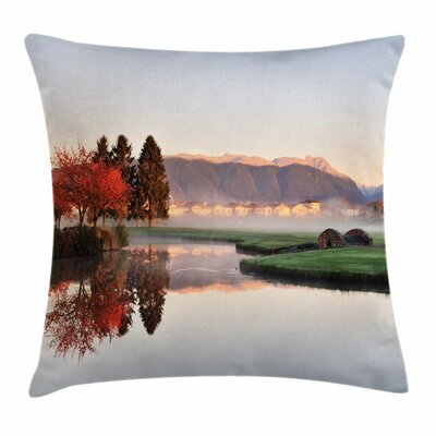 Fall Decor Idyllic Countryside Square Pillow Cover Size: 24 x 24