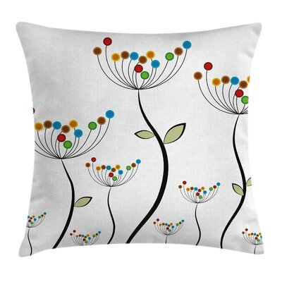 Garden Dandelion Stems Buds Pillow Cover Size: 16 x 16