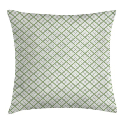 Green Hexagonal Diamond Lines Pillow Cover Size: 18 x 18