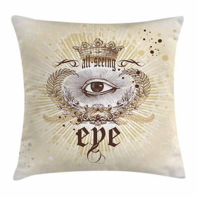 Eye Vintage Victorian Artistic Square Pillow Cover Size: 16 x 16