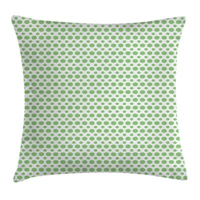 Pop Art Retro Style Dots Square Pillow Cover Size: 16 x 16