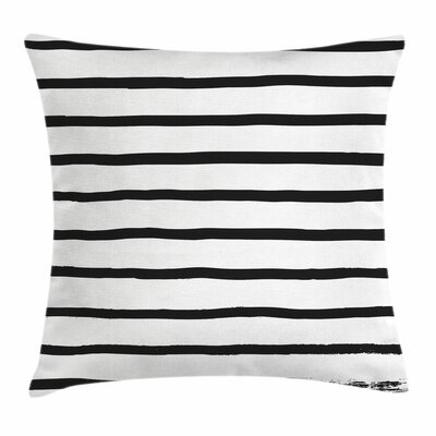 Art Decor Minimalist Paintbrush Pillow Cover Size: 16 x 16