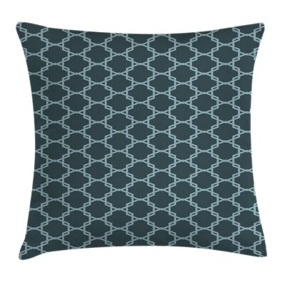 Quatrefoil Shaped Lines Square Pillow Cover Size: 18 x 18