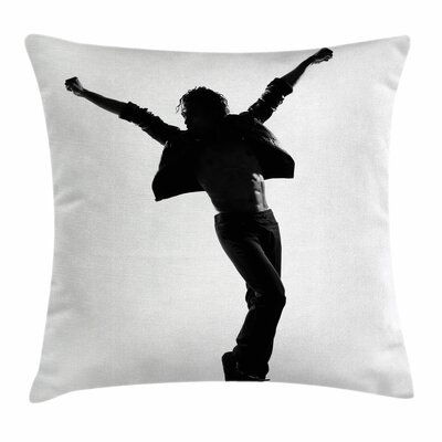 Michael Jackson Star Singer Square Pillow Cover Size: 16
