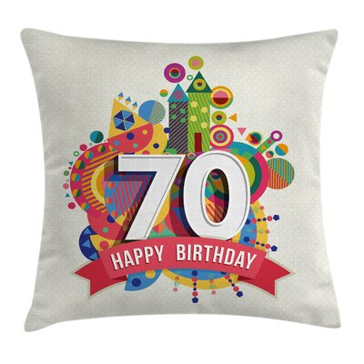 Party Modern Geometric Design Square Pillow Cover Size: 18 x 18