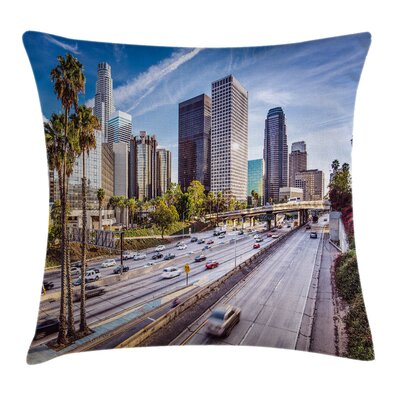 Urban Downtown Los Angeles USA Pillow Cover Size: 18 x 18