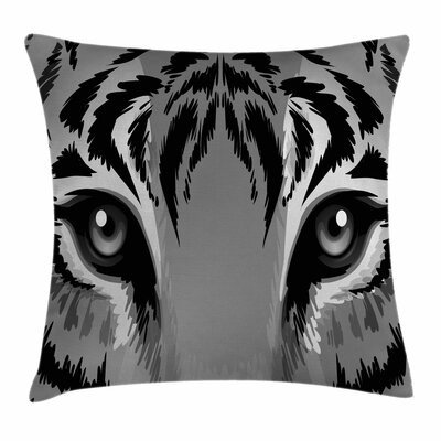 Eye Tiger Sharp Eyes Wildlife Square Pillow Cover Size: 18 x 18