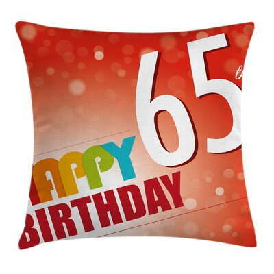 Greetings Party Invite Square Pillow Cover Size: 16 x 16