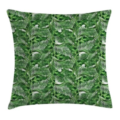 Zen Decor Tropic Plants Pattern Pillow Cover Size: 24 x 24
