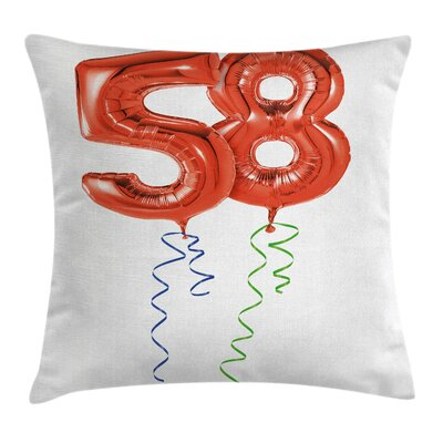 Old Age Party Square Pillow Cover Size: 16 x 16
