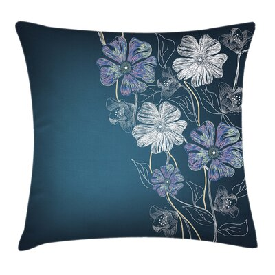 Art Cherry Blossom Bridal Theme Pillow Cover Size: 24 x 24
