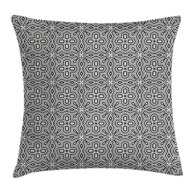African Antique Modern Graphic Pillow Cover Size: 18 x 18