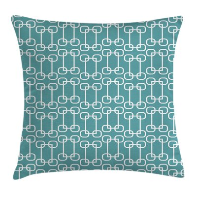 Retro Squares Design Square Pillow Cover Size: 16 x 16