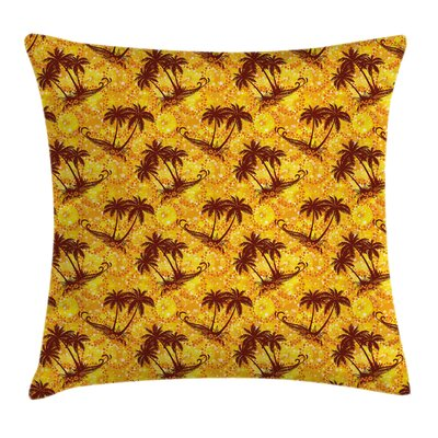 Hawaiian Ocean Island Palms Pillow Cover Size: 18 x 18