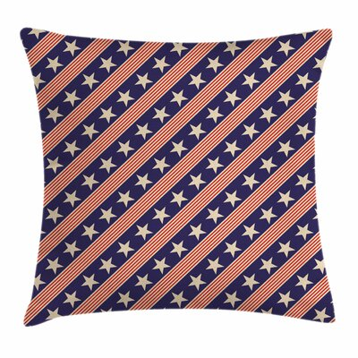 Primitive Country Patriot Star Square Pillow Cover Size: 18 x 18