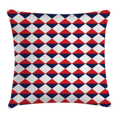 Americana Half Triangles Square Pillow Cover Size: 18 x 18