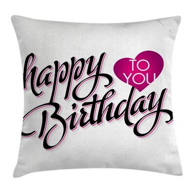 Modern Typo Stylized Message Square Pillow Cover Size: 24 x 24