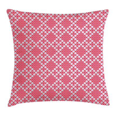 Ethnic Russian Cross Stitch Square Pillow Cover Size: 18 x 18