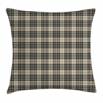 Vintage Tartan British Heraldry Pillow Cover Size: 24 x 24
