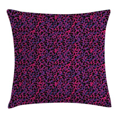 Jungle Leopard Skin Safari 80s Pillow Cover Size: 16 x 16