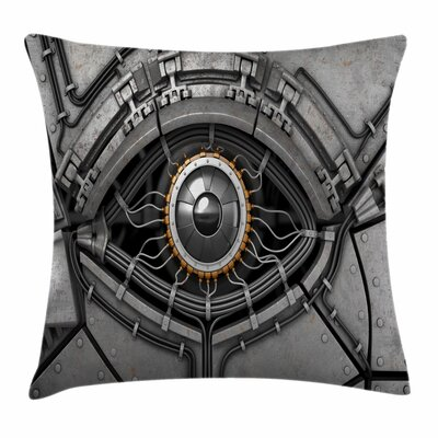 Eye Robot Eye Wires Technology Square Pillow Cover Size: 24 x 24