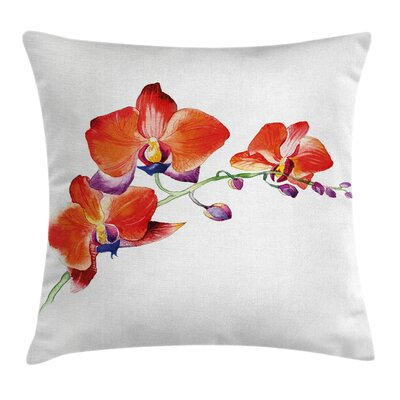 Flower Orchid Branch Blooms Pillow Cover Size: 20 x 20