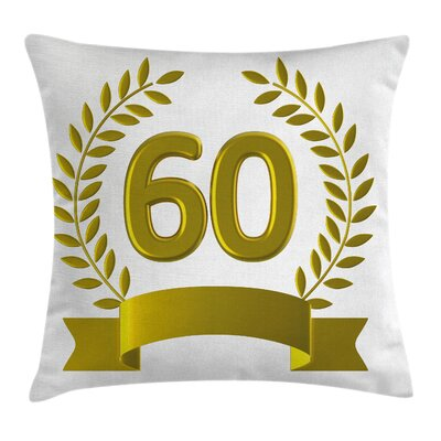 Party Golden Age Birthday Theme Square Pillow Cover Size: 18 x 18