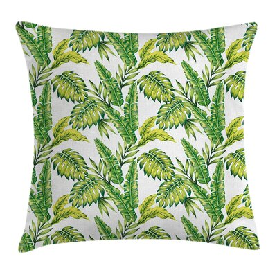 Jungle Bamboo Palms Foliage Pillow Cover Size: 24 x 24