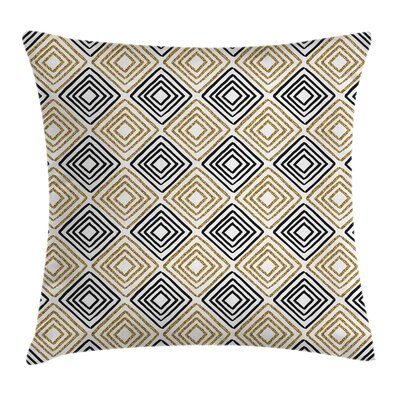 Bohemian Shaped Lines Pillow Cover Size: 18 x 18