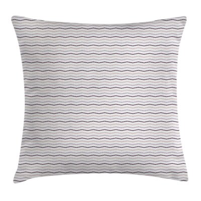 Tone Zig Zag Square Pillow Cover Size: 24 x 24