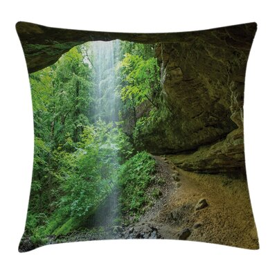 Canyon Michigan Caves Pillow Cover Size: 24 x 24