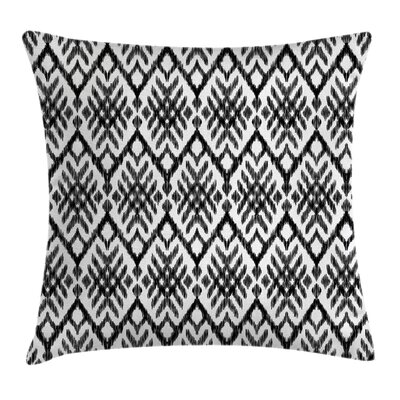 Tribal Diagonal Bohemic Shapes Pillow Cover Size: 18 x 18